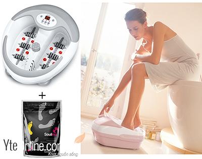 Sử dụng bồn ngâm chân giúp tăng cường sức khỏe